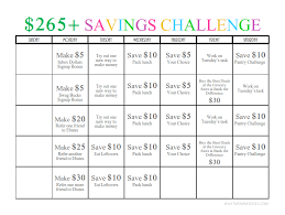 265 One Month Money Challenge A Fun Way To Save Earn