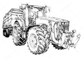 Trekker Kleurplaat Massey Ferguson Trator Agrcola Ilustrao Arte