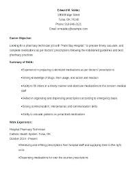 Pharmacist Resume Sample Custom Hospital Pharmacist Resume Samples Pharmacy Sample Technician Skills