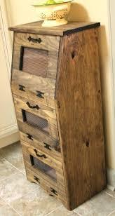 potato storage bin rustic vegetable bin potato bread box storage cupboard primitive kitchen wooden shelf onion potato storage bin