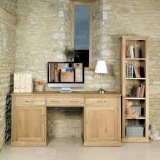 picture mobel oak large hidden office. Baumhaus Mobel Oak Hidden Office Twin Pedestal Desk - Large Picture B