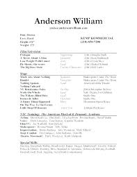 Professional Theatre Resumes Actor Resume Example Acting Resumes Theatre Resume From Acting