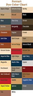 Beige Color Chart Ferrari Dye Color Chart Autoleatherdye