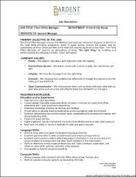 Front Office Resume Examples Front Office Manager Resume Samples ...