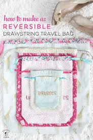 Drawstring Bag Pattern Enchanting Lined Drawstring Bag Sewing Pattern Free Cricut Cut Files The