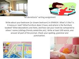 dream room furniture. Mi Dormitorio Writing Assignment Write About Your Bedroom (or Dream Bedroom)  In SPANISH. Room Furniture T