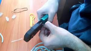 Обжим <b>сетевого кабеля</b> (витой пары) на 8 жил в домашних ...