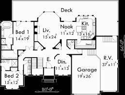 ranch house floor plans. Main Floor Plan For 10072 Custom Ranch House W/ Daylight Basement And RV Garage Plans