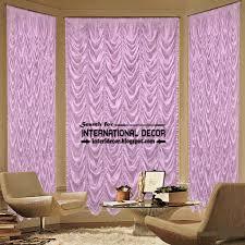 Purple Curtains For Living Room Stylish Purple French Curtain Style For Living Room Curtain Designs