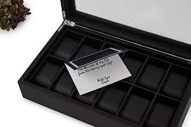 watch box for men 12 section luxury carbon fiber design display watch box for men 12 section luxury carbon