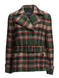 polo ralph lauren outerwear jackets wool jackets riley coat green red plaid bedding ralph lauren official