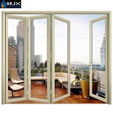 hot 2016 high quality interior aluminum folding doors home furnishing aluminum sliding folding door hardware