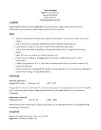 Production Resume Examples Manufacturing Technician Resume Sample Factory Examples Template