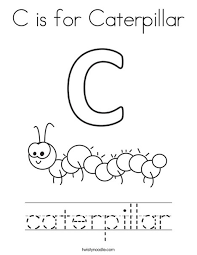 caterpillar coloring page. Simple Page C Is For Caterpillar Coloring Page On G