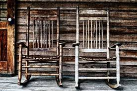 wooden rocking chairs for front porch.  Chairs Stock Photo  Two Old Wooden Rocking Chairs On Front Porch Part Of Door  And The Houseu0027s Shingles Can Be Seen For Wooden Rocking Chairs Front Porch C