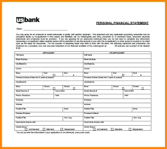 Personal Financial Statement Template Printable 8 Free Form ...