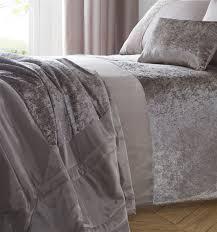 luxury crushed velvet panel duvet cover bedding set blue crushed velvet