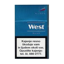 Blue Green Online West Deep Blue Cigarettes Pack Of 10
