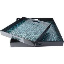 Teal Decorative Tray