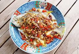 112 food 1 golden pomfret with salted soya