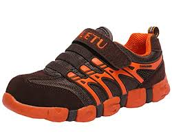 Dadawen Boys Girls Athletic Strap Breathable Running Shoes