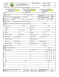 Post Incident Report Form Motor Vehicle Template Auto Accident Uk