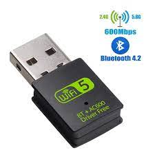 USB WiFi Bluetooth Adapter 600Mbps Dual Band 2.4/5Ghz Wireless External  Receiver Mini WiFi Dongle for PC/Laptop/Desktop|Network Cards