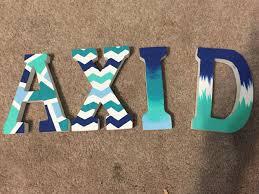 Sorority Letter Designs Custom Mini Wooden Letters Basic Design Set Of Four