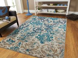 details about modern rugs blue gray area rug 8x10 living room carpet 5x8 chrysanthemum rugs 2x