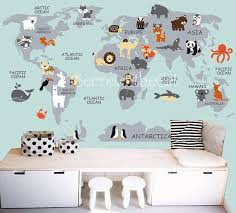 map wall decal nursery wall decals