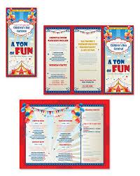 Fun Brochure Templates Kids Carnival Day Tri Fold Brochure Template