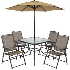 outdoor patio dining set with umbrella. best choice products 6pc outdoor folding patio dining set w/ table, 4 chairs , with umbrella