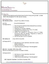 Over 10000 CV and Resume Samples with Free Download: BCom Experience Resume  Format