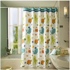 com fun kids fabric bathroom shower curtain with 12 plastic hooks 72 x 72 mold resistant waterproof polyester cloth antimicrobial
