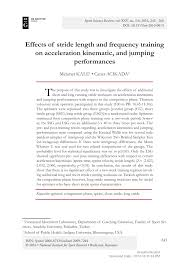 Stride Length Chart Pdf Effects Of Stride Length And Frequency Training On