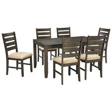 Dinning Room Table Set Signature Design By Ashley Furniture Rokane Contemporary 7 Piece