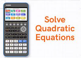 solve quadratic equations cg50 cg50
