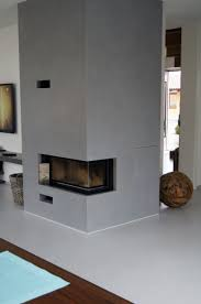 Kamin Gespachtelt In Betonoptik By Fugenlos Modernde In