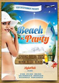 Beach Party Flyer Template Top 20 Best Spring Break Psd Flyer ...
