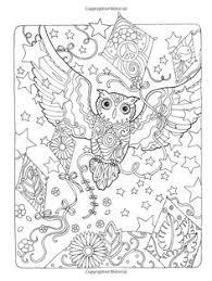 creative haven owls coloring book artwork by marjorie sarnat