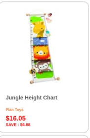 Plantoys Jungle Height Chart Get Jungle Height Chart Plan Toys 16 05 Save 6 88 For