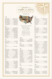 Map Seating Chart Wedding Map Of United States Traveling Themed Wedding Seating Chart