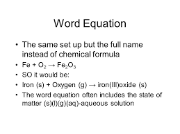 chemical equation and word equation word equation the same set up word equation the same set up source abuse report
