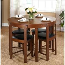 small round wood dining table small dining table set compact round wood 4 chairs kitchen modern