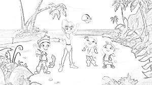 cool jake and the neverland pirates coloring pages for bebo pandco