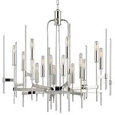 restoration warehouse bari polished nickel chandelier sixteen light