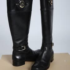 michael kors stockard black leather boots 8 m m 57be3ef75a49d0f1ed006def