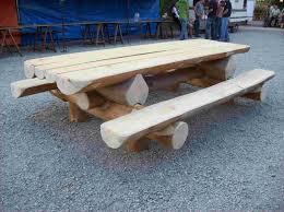 Table De Jardin En Rondin De Bois Maison Galerie D Id Es