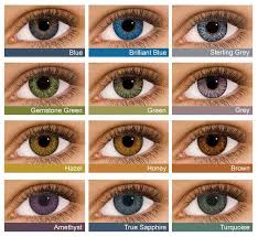 Contact Lenses Colour Chart Air Optix Colors 2