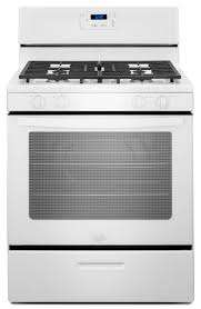 whirlpool freestanding 5 1 cu ft gas range white common 30